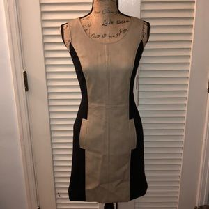kensie two-toned faux leather dress